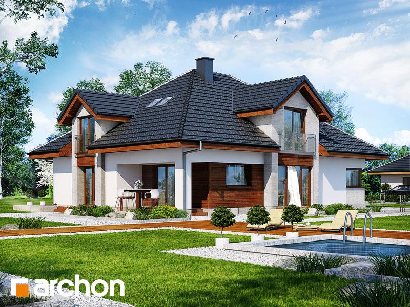 Проект будинку ARCHON+ Будинок в хебе Вид 1