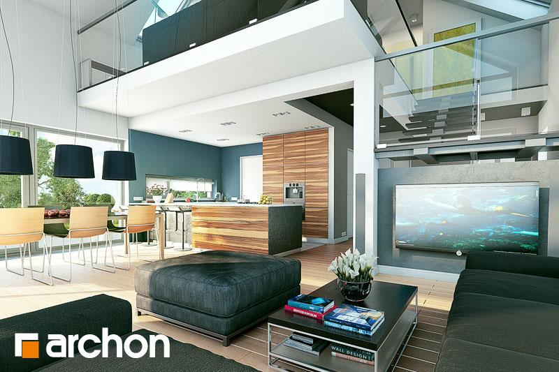 Проект будинку ARCHON+ Будинок в лаврах денна зона (візуалізація 1 від 1)