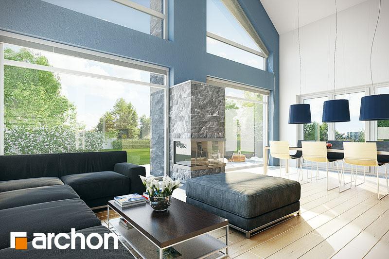 Проект будинку ARCHON+ Будинок в лаврах денна зона (візуалізація 1 від 2)