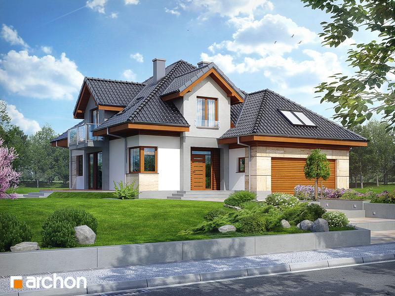 Проект будинку ARCHON+ Будинок в датурах стилізація 3