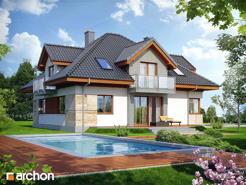 Проект будинку ARCHON+ Будинок в датурах стилізація 4