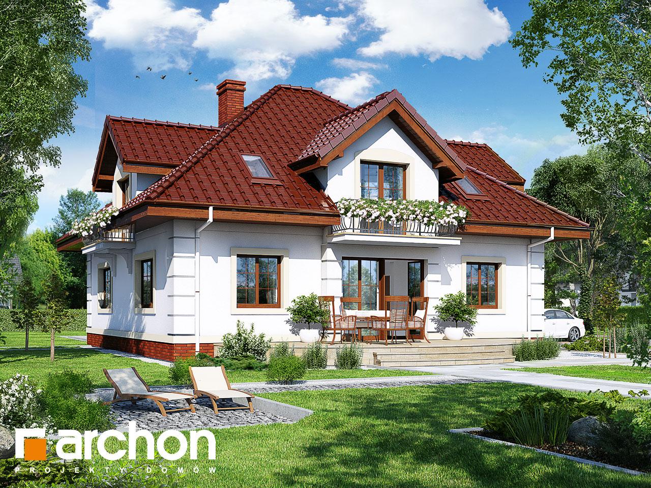 Проект будинку ARCHON+ Будинок в датурах Вид 2