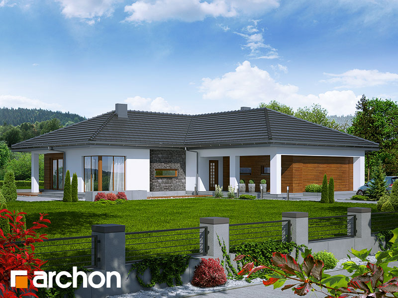Проект будинку ARCHON+ Будинок під какао Вид 1