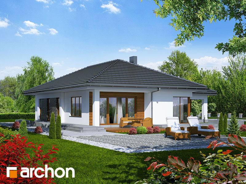 Проект будинку ARCHON+ Будинок під какао Вид 2