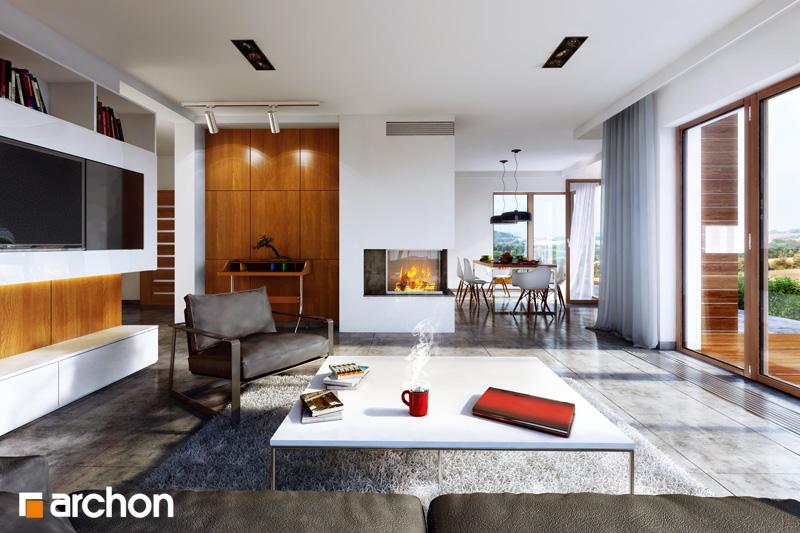 Проект будинку ARCHON+ Будинок під какао денна зона (візуалізація 1 від 1)