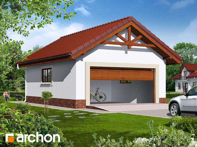 Проект дома ARCHON+ Г6б - Двухместный гараж Вид 1