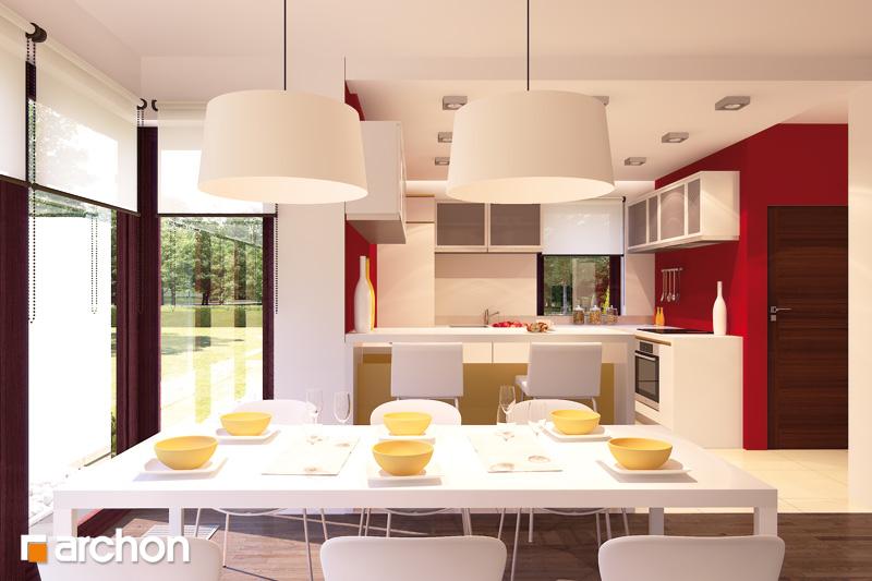 Проект будинку ARCHON+ Будинок в тамариску 2 (Н) візуалізація кухні 1 від 1