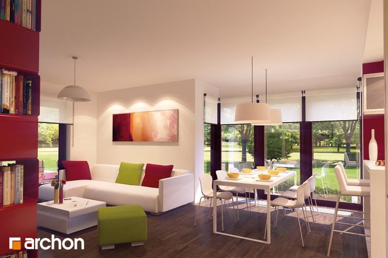 Проект будинку ARCHON+ Будинок в тамариску 2 (Н) денна зона (візуалізація 2 від 1)