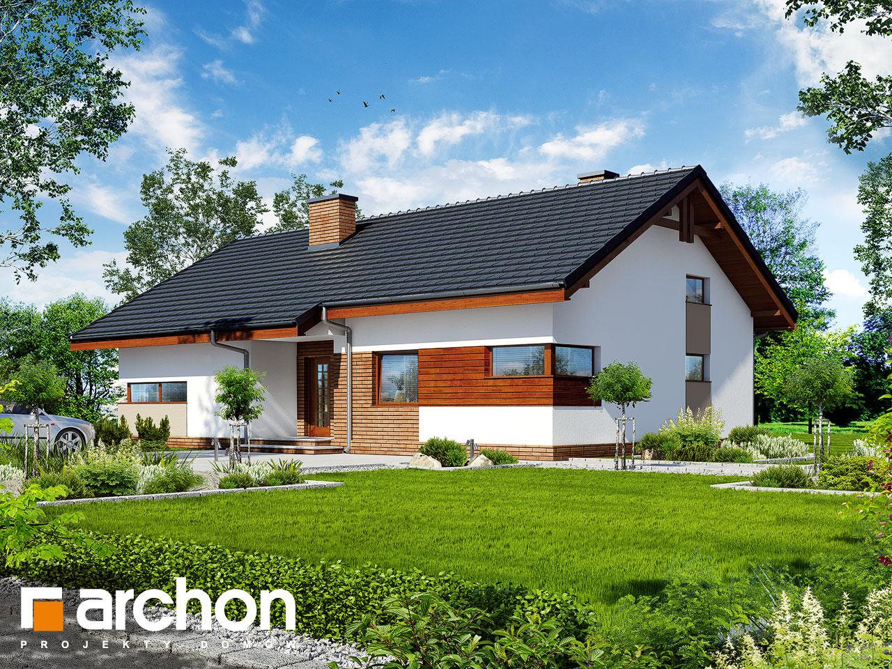 Проект будинку ARCHON+ Будинок в палісандрі Вид 2