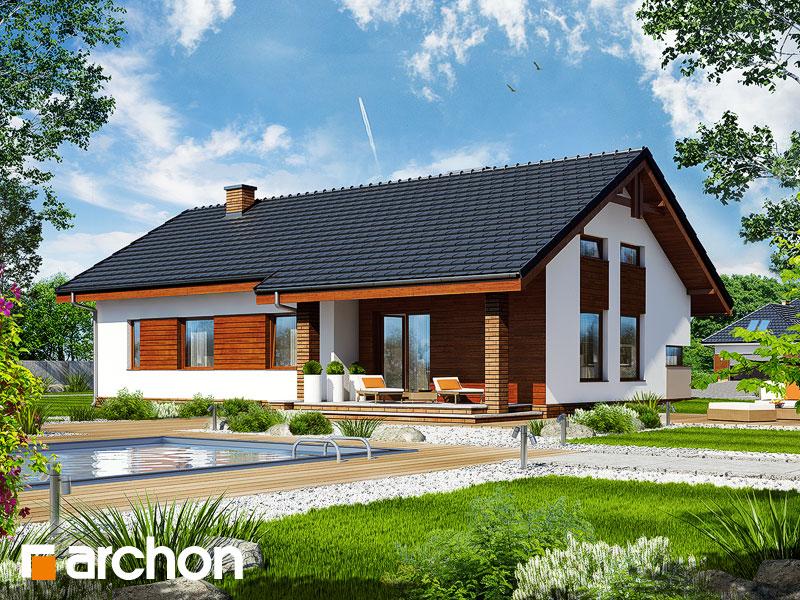 Проект будинку ARCHON+ Будинок в палісандрі Вид 1