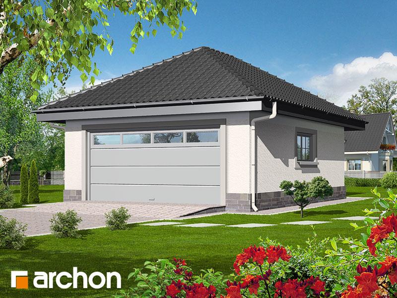 Проект будинку ARCHON+ Г1а - Двомісний гараж Вид 1