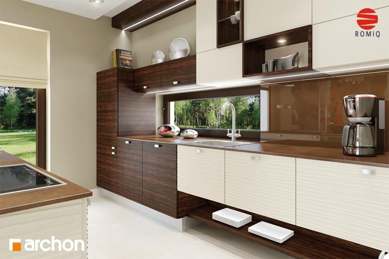 Проект дома ARCHON+ Дом под финиковой пальмой аранжировка кухни 1 вид 1