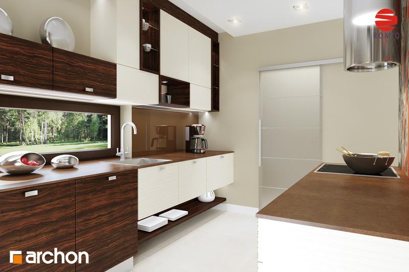 Проект дома ARCHON+ Дом под финиковой пальмой аранжировка кухни 1 вид 2