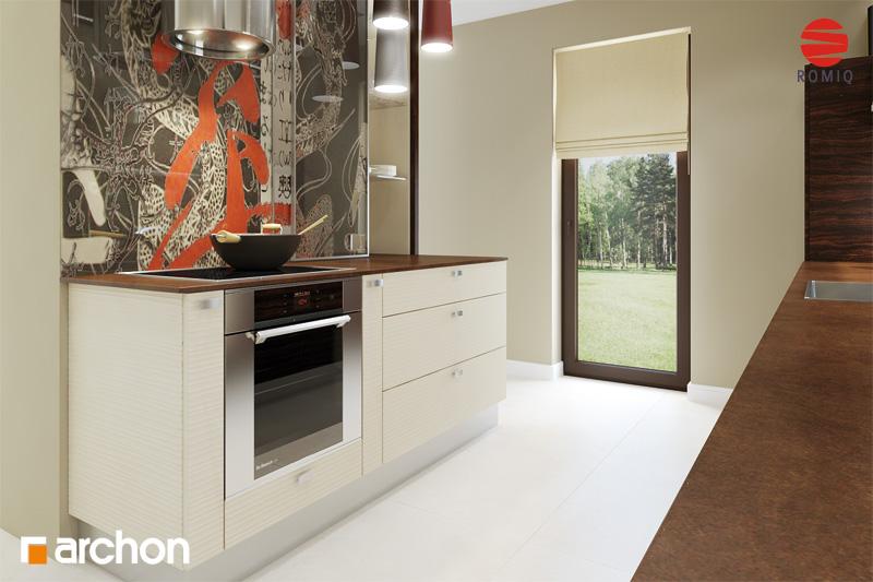 Проект дома ARCHON+ Дом под финиковой пальмой аранжировка кухни 1 вид 3