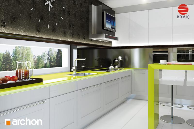 Проект дома ARCHON+ Дом под финиковой пальмой аранжировка кухни 2 вид 1