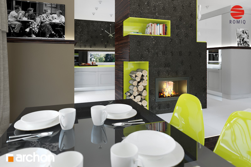 Проект дома ARCHON+ Дом под финиковой пальмой аранжировка кухни 2 вид 3