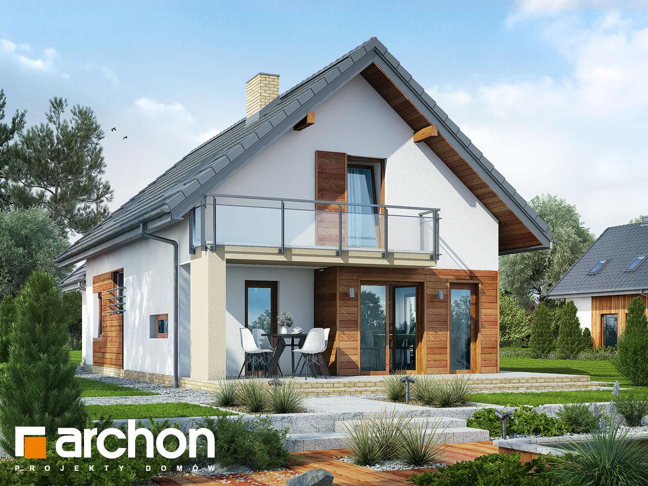 Проект дома ARCHON+ Дом под финиковой пальмой Вид 2