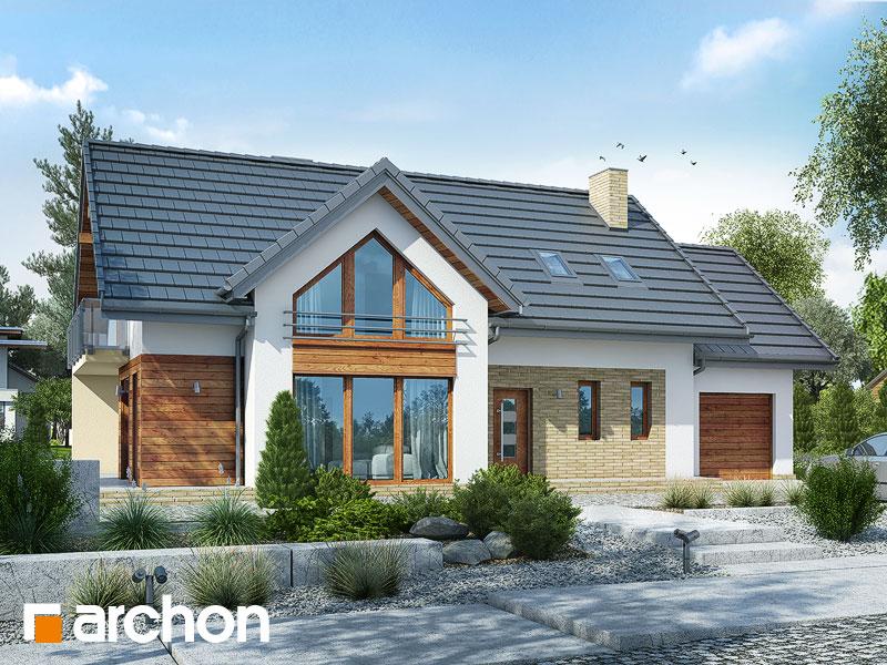 Проект дома ARCHON+ Дом под финиковой пальмой Вид 1