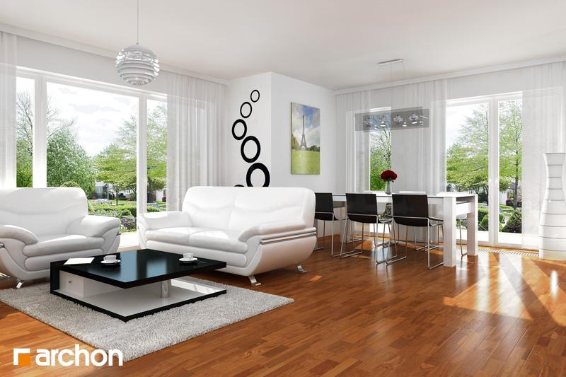 Проект дома ARCHON+ Дом под финиковой пальмой дневная зона (визуализация 1 вид 1)