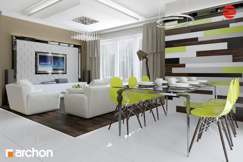 Проект дома ARCHON+ Дом под финиковой пальмой дневная зона (визуализация 2 вид 2)
