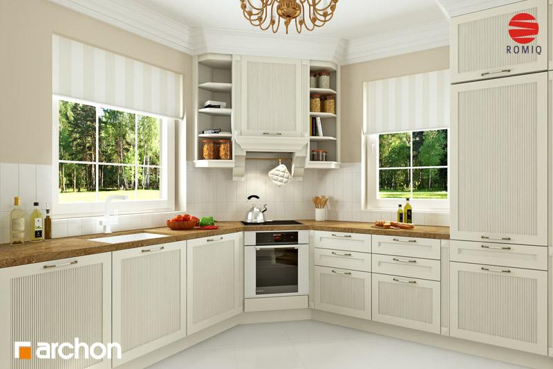 Проект будинку ARCHON+ Будинок в рододендронах 6 (Г2Н) візуалізація кухні 1 від 1