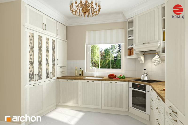 Проект будинку ARCHON+ Будинок в рододендронах 6 (Г2Н) візуалізація кухні 1 від 2