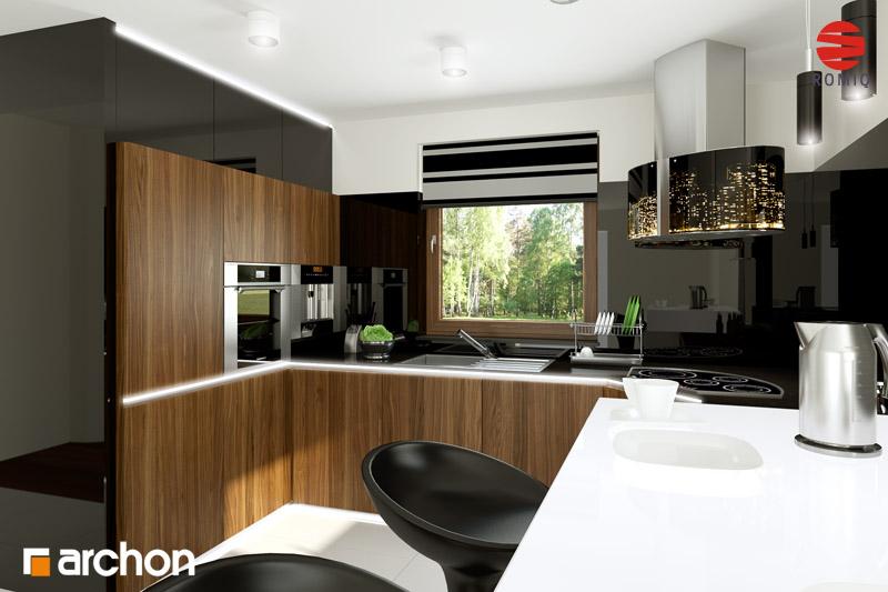 Проект будинку ARCHON+ Будинок в рододендронах 6 (Г2Н) візуалізація кухні 2 від 2