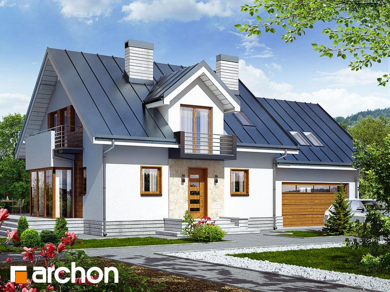 Проект будинку ARCHON+ Будинок в рододендронах 6 (Г2Н) Вид 1