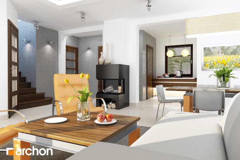 Проект будинку ARCHON+ Будинок в рододендронах 6 (Г2Н) денна зона (візуалізація 1 від 1)