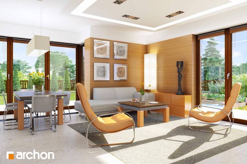 Проект будинку ARCHON+ Будинок в рододендронах 6 (Г2Н) денна зона (візуалізація 1 від 2)