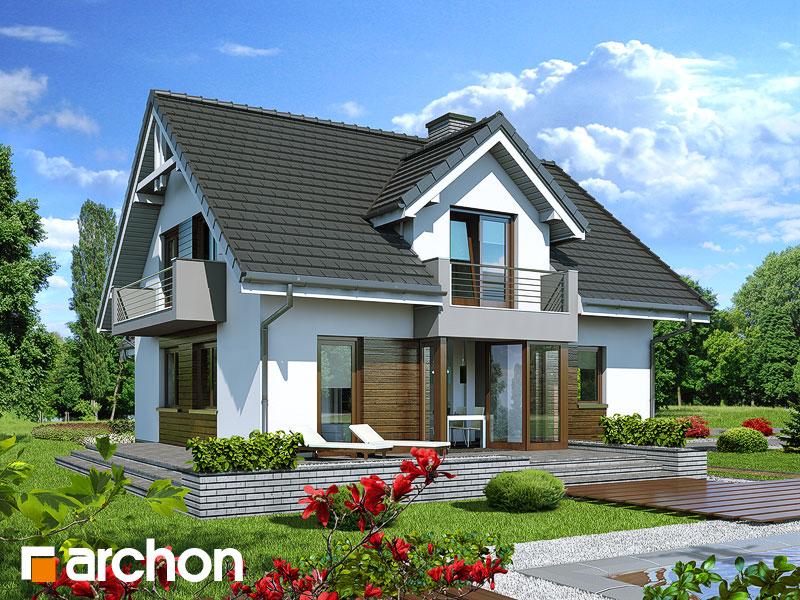 Проект будинку ARCHON+ Будинок в рододендронах 5 (H) Вид 1