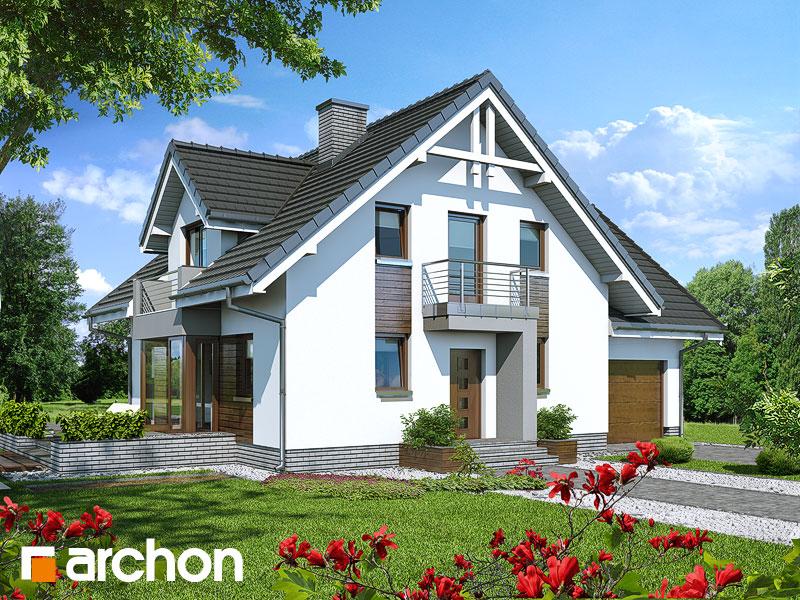 Проект будинку ARCHON+ Будинок в рододендронах 5 (H) Вид 2