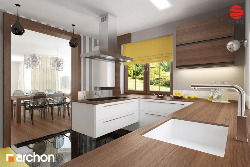 Проект будинку ARCHON+ Будинок в бергамотах (Р2) візуалізація кухні 1 від 1
