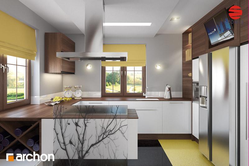 Проект будинку ARCHON+ Будинок в бергамотах (Р2) візуалізація кухні 1 від 2