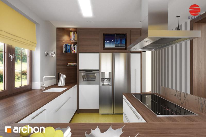 Проект будинку ARCHON+ Будинок в бергамотах (Р2) візуалізація кухні 1 від 3
