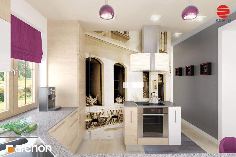 Проект будинку ARCHON+ Будинок в бергамотах (Р2) візуалізація кухні 2 від 1