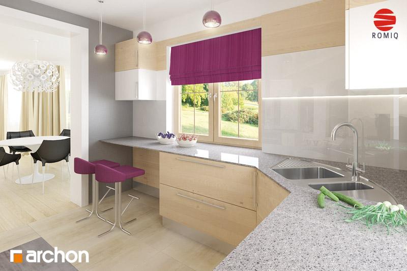 Проект будинку ARCHON+ Будинок в бергамотах (Р2) візуалізація кухні 2 від 2