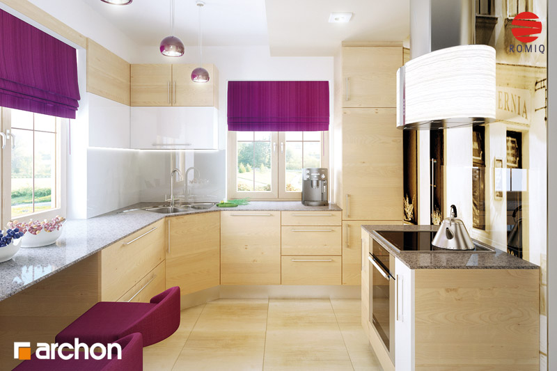 Проект будинку ARCHON+ Будинок в бергамотах (Р2) візуалізація кухні 2 від 3