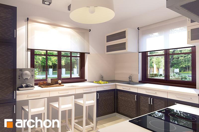 Проект будинку ARCHON+ Будинок в бергамотах (Р2) візуалізація кухні 3 від 1