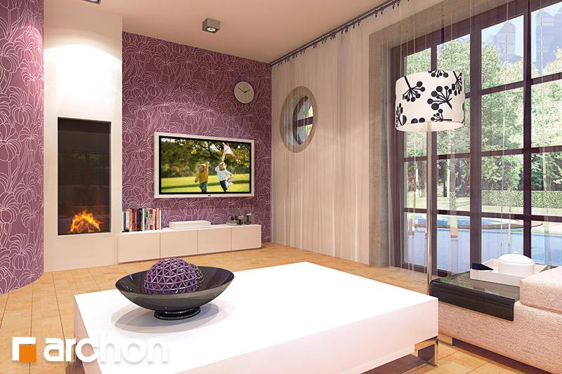 Проект будинку ARCHON+ Будинок в бергамотах (Р2) денна зона (візуалізація 2 від 2)