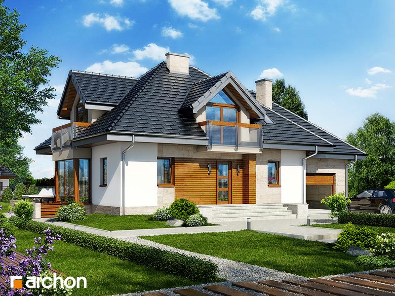 Проект будинку ARCHON+ Будинок в нектаринах 2 (П) стилізація 3