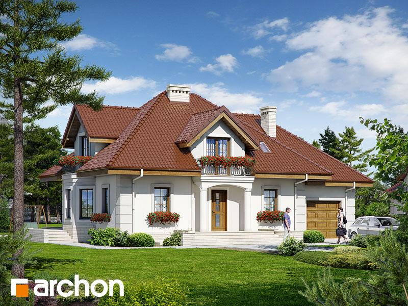 Проект будинку ARCHON+ Будинок в нектаринах 2 (П) Вид 1