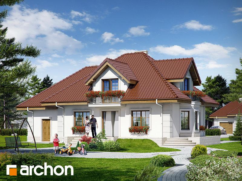 Проект будинку ARCHON+ Будинок в нектаринах 2 (П) Вид 2