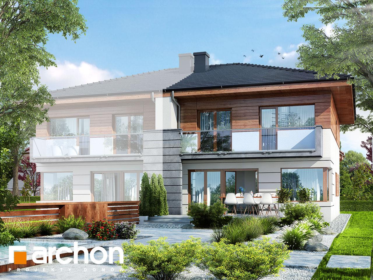 Проект будинку ARCHON+ Вілла Юлія (Б) вер.3 Вид 2