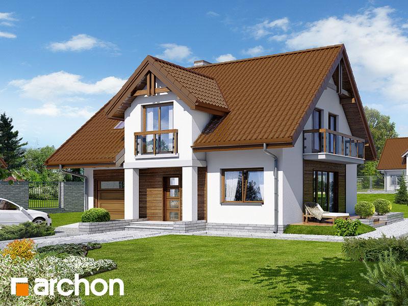 Проект будинку ARCHON+ Будинок в аспарагусах (ПН) Вид 1