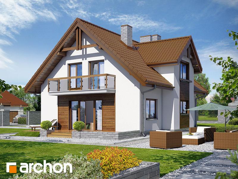 Проект будинку ARCHON+ Будинок в аспарагусах (ПН) Вид 2