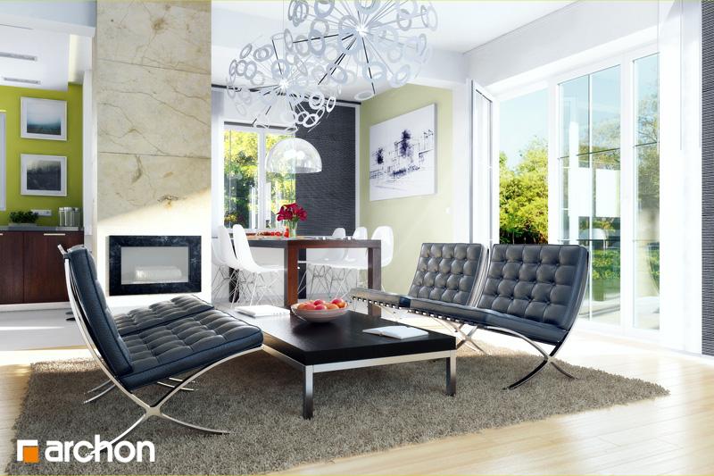 Проект будинку ARCHON+ Будинок в аспарагусах (ПН) денна зона (візуалізація 1 від 1)