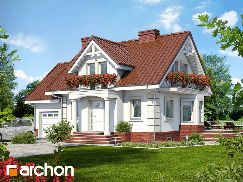 Проект будинку ARCHON+ Будинок під гірською сосною (П) Вид 1