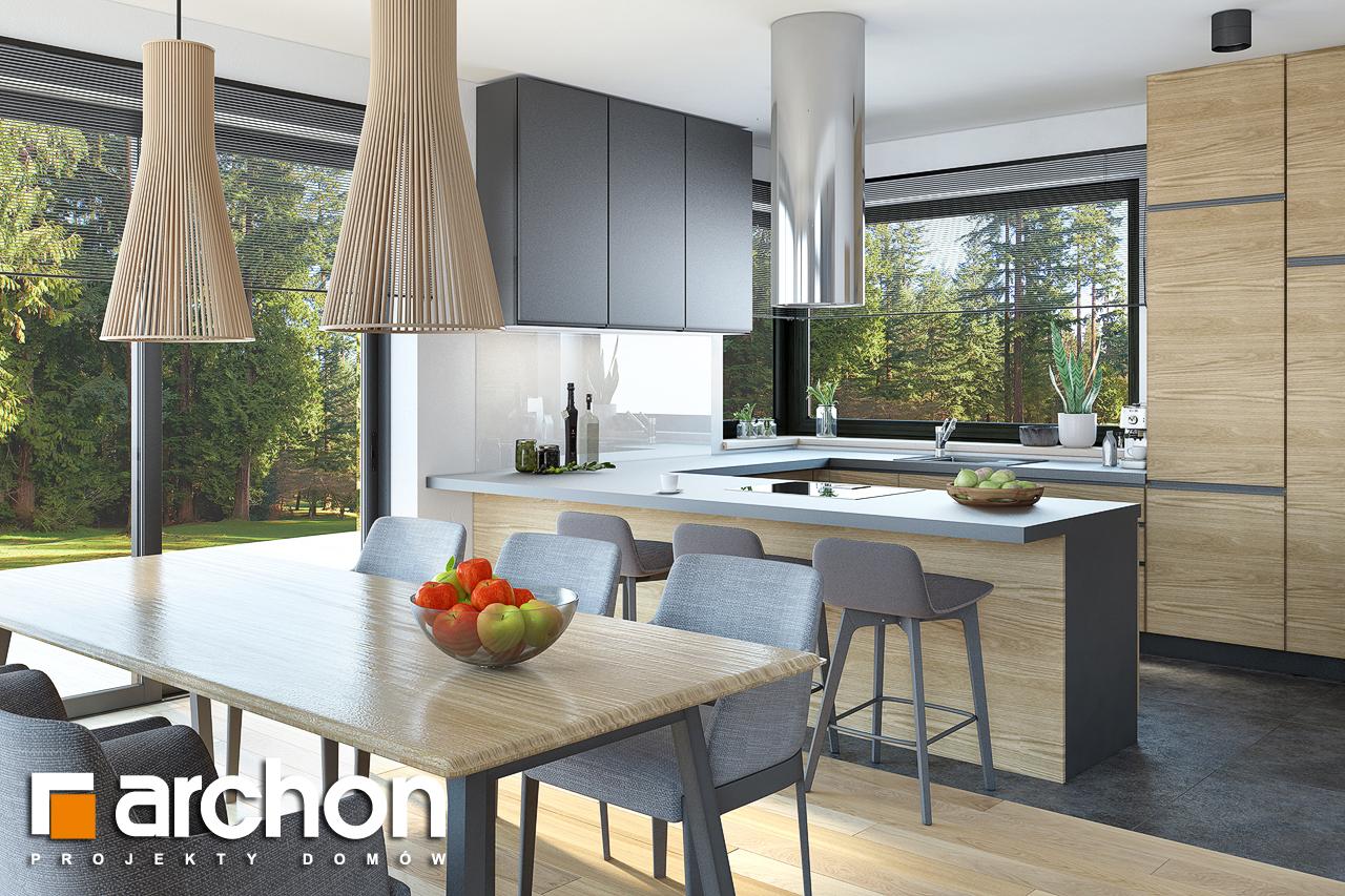 Проект будинку ARCHON+ Будинок під софорою візуалізація кухні 1 від 1