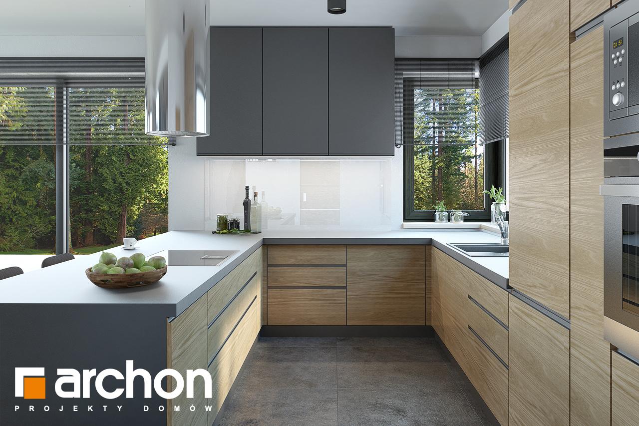 Проект будинку ARCHON+ Будинок під софорою візуалізація кухні 1 від 2